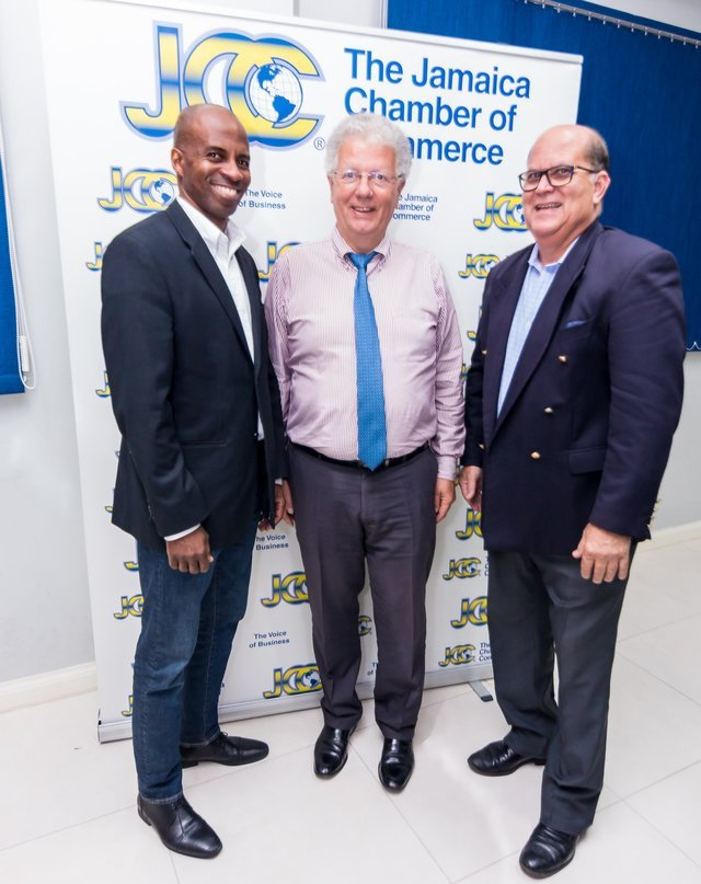 Ambassador Despax's courtesy call at the Jamaica Chamber of Commerce ©Philip McKenley