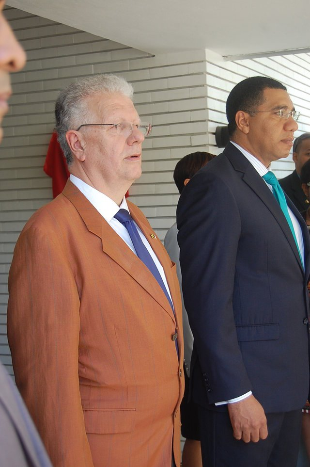 Jean-Michel Despax and The Most Honourable Andrew Holness ©French Embassy services
